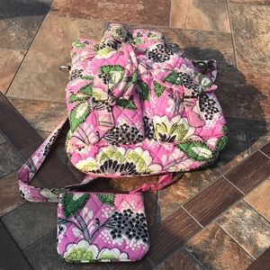 Vera Bradley pink paisley hobo bag